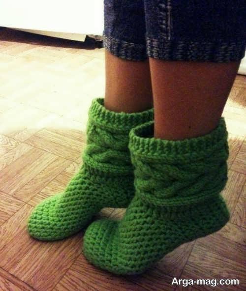 جوراب بافتنی سبز