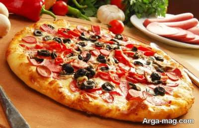 دستور آشپزی پیتزا لبنانی