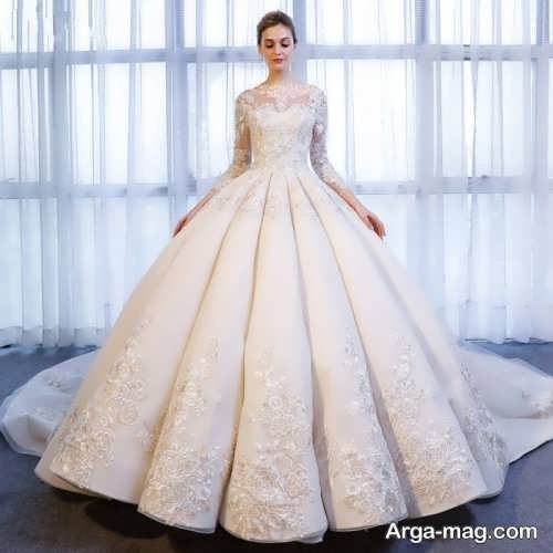 مدل لباس عروس دامن پفی