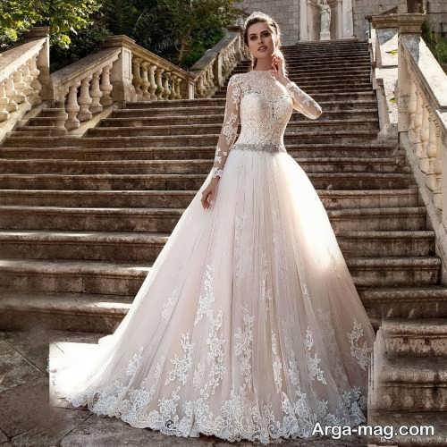 لباس عروس پوشیده و زیبا