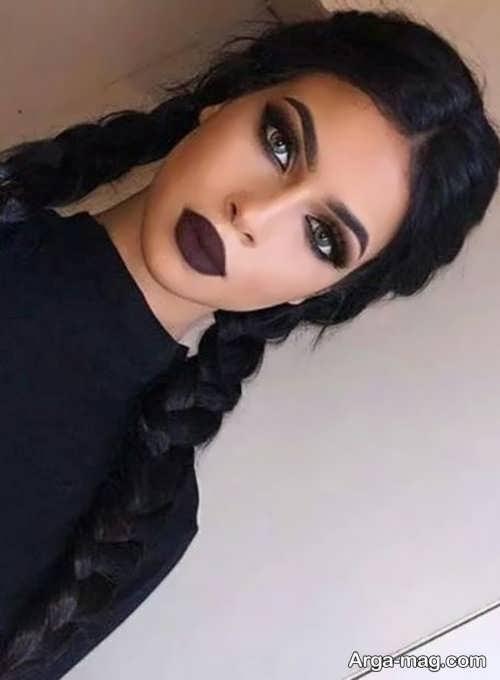 آرایش صورت با موی مشکی برای مهمانی های متفاوت