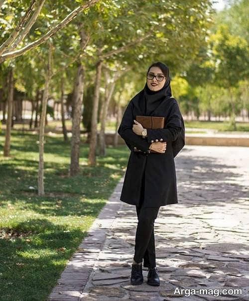 مدل مانتو مشکی برای دانشگاه