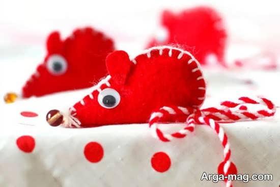 کاردستی موش با طرح قلب