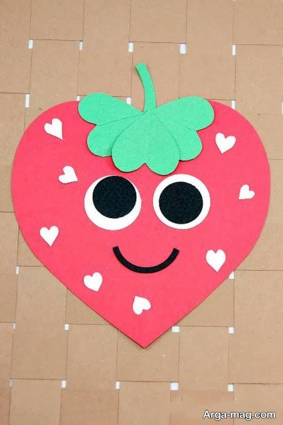 کاردستی میوه با طرح قلب