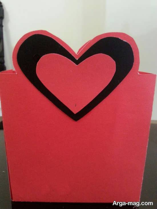 کاردستی ساده با شکل قلب