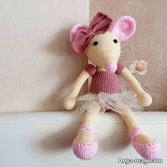 کاردستی بافتنی موش