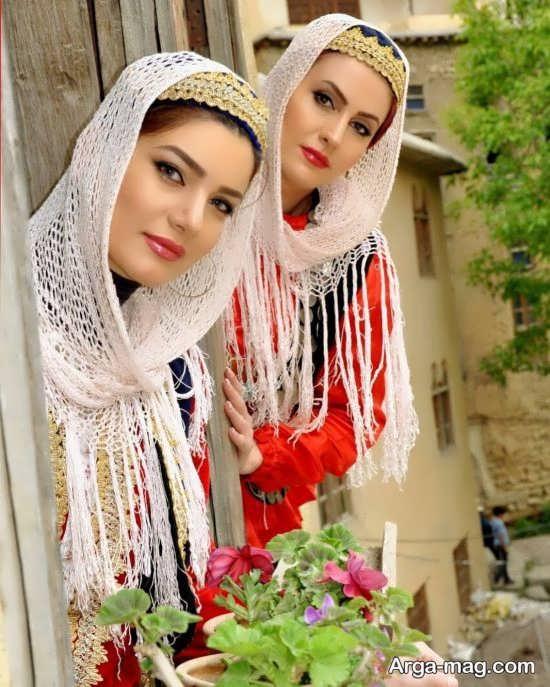 متین ستوده و خواهرش با صورت آرایش کرده