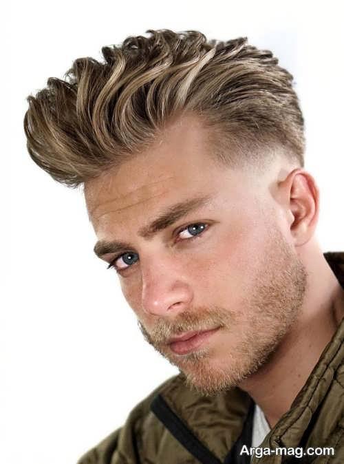 رنگ مو زیبا و روشن مردانه