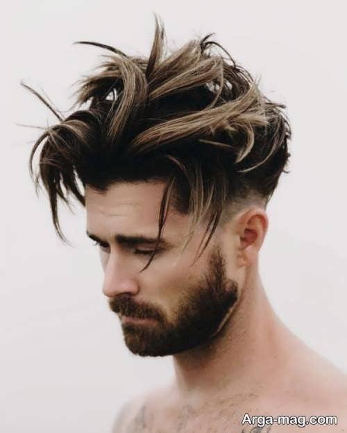 رنگ موی مردانه با هایلایت