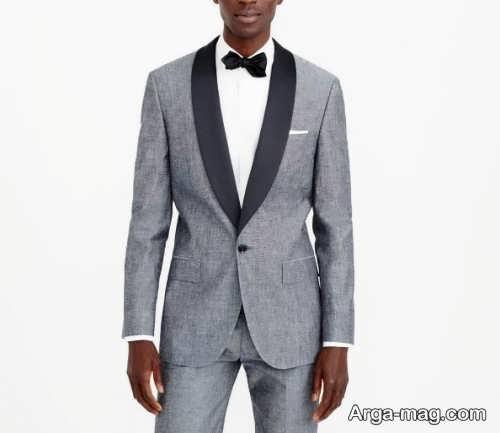 مدل کت و شلوار خاکستری مردانه