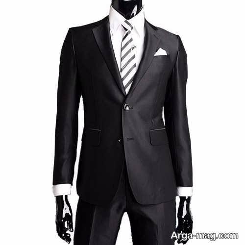 مدل کت و شلوار رنگ تیره مردانه