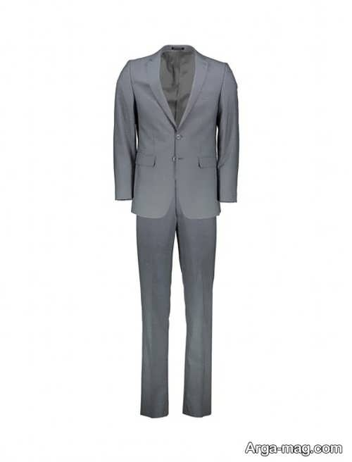 مدل کت و شلوار مردانه خاکستری