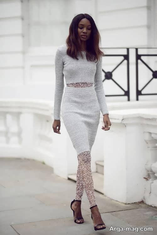 مدل دامن زنانه خاکستری