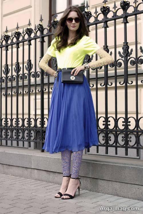 مدل دامن آبی زنانه
