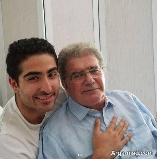 محمدرضا شجریان در کنار پسر کوچکش