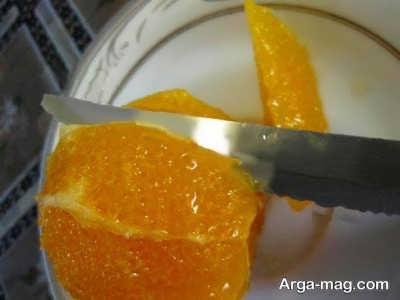 خرد کردن پرتقال