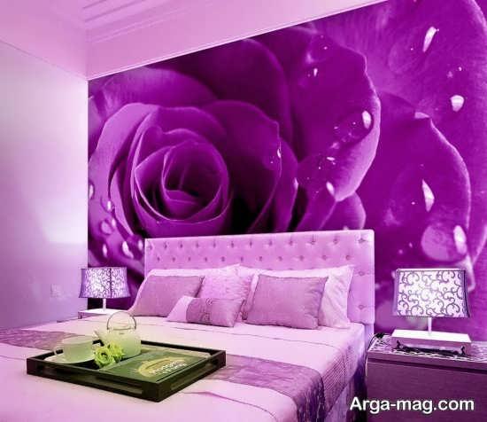 دیزاین دیدنی اتاق خواب بنفش