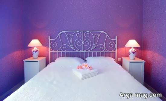 دیزاین جدید اتاق خواب بنفش