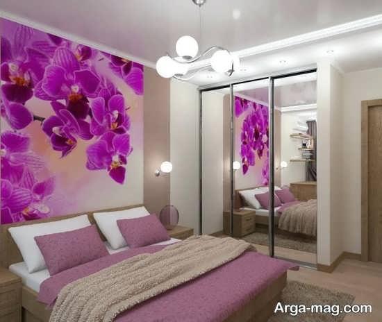 دیزاین اتاق خواب بنفش
