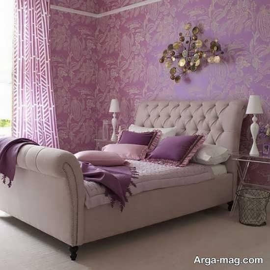دکوراسیون جذاب اتاق خواب بنفش