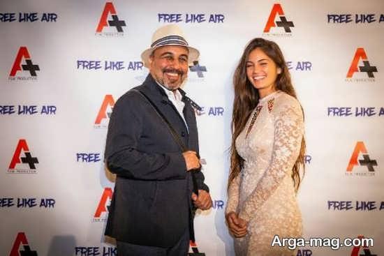 رضا عطاران در کنار خانم بازیگر فرانسوی
