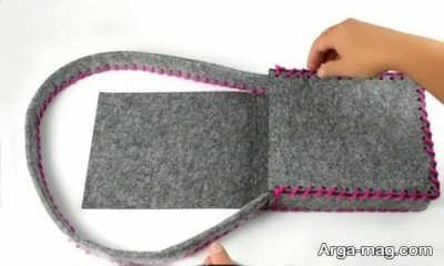 دوختن کیف نمدی با طرح جدید