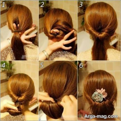 [تصویر:  Simple-chignon-home-18.jpg]