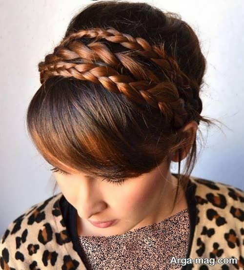 شینیون ساده همراه با بافت مو