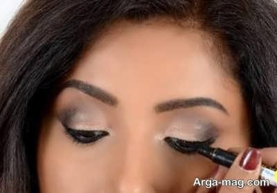 مدل آرایش چشم زیبا و ساده