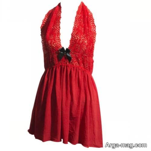 لباس خواب قرمز و شیک