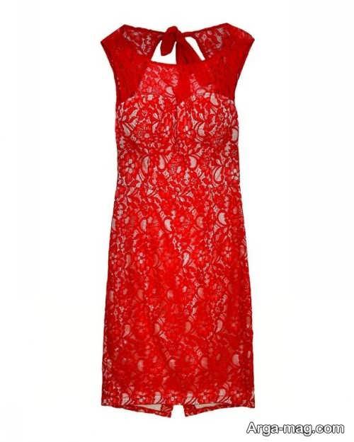 لباس خواب گیپور قرمز