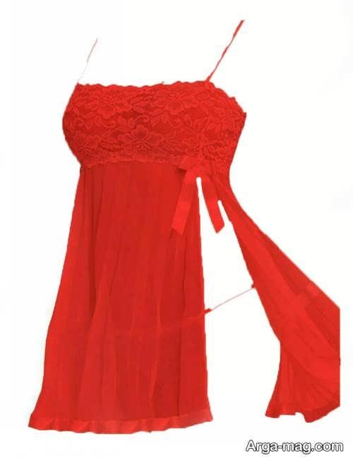 لباس خواب قرمز و زیبا