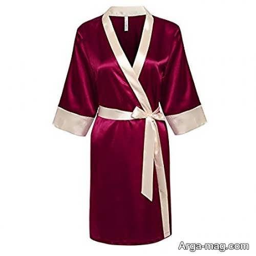 مدل لباس خواب زرشکی برای عروس