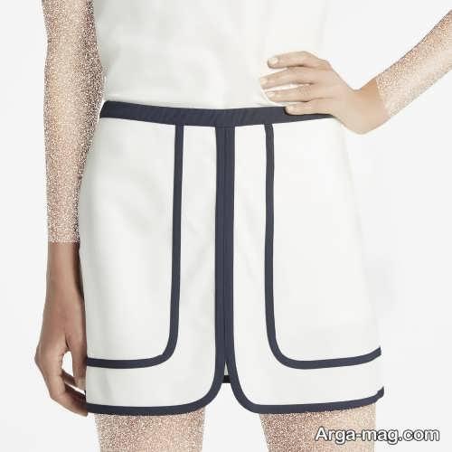 مدل دامن کوتاه اسپرت مشکی و سفید