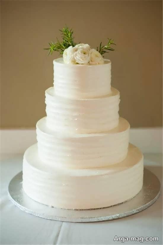 تزیین ساده برای کیک عروسی