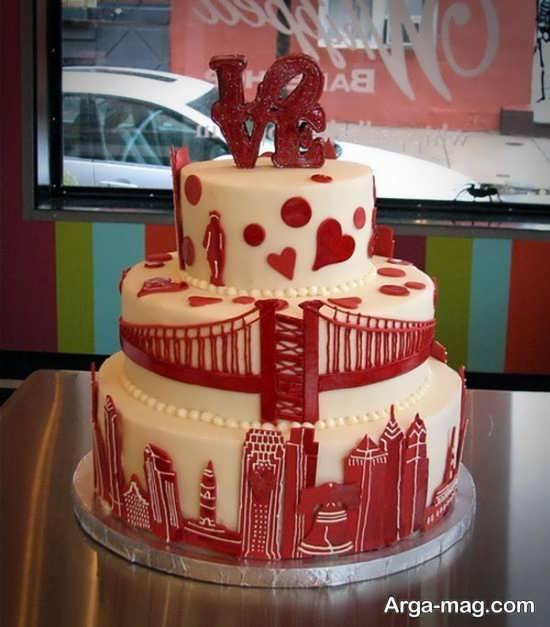مدل کیک عروسی فانتزی