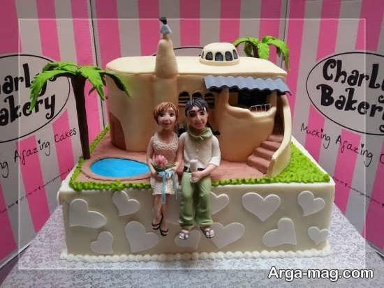 کیک عروسی فانتزی