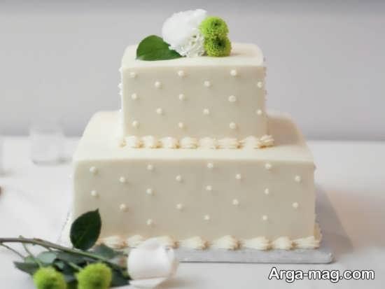 کیک عروسی مربعی