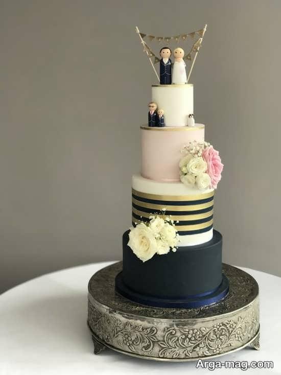 کیک عروسی گرد و فانتزی