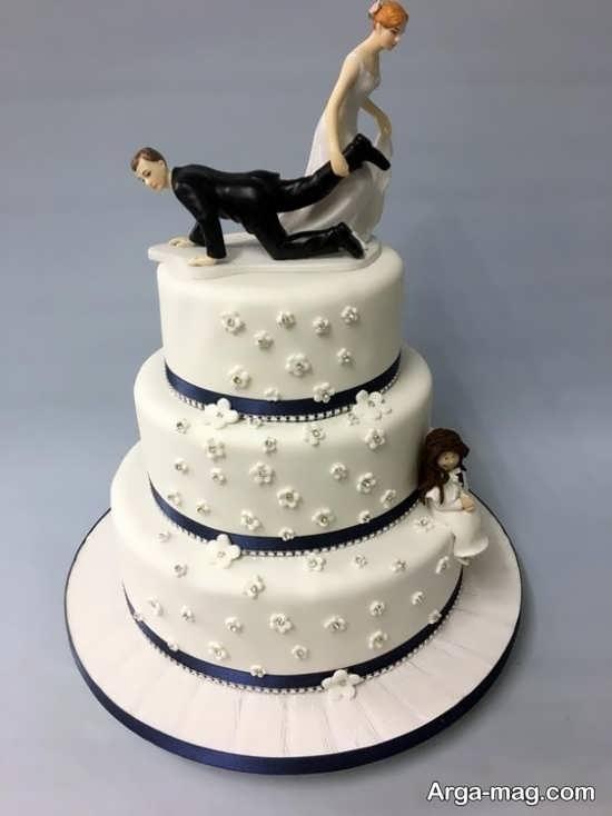 تزیین زیبا کیک عروسی