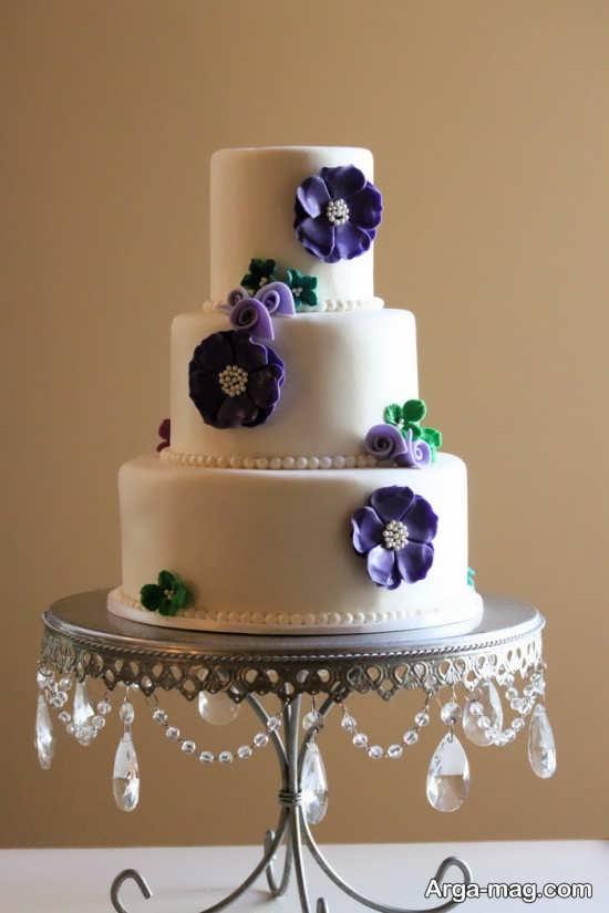 تزیین کیک عروسی با گل