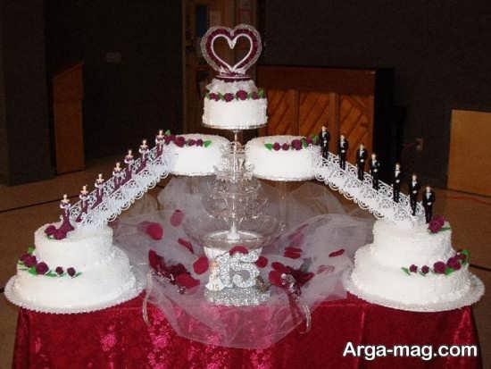 تزیین خلاقانه کیک عروسی