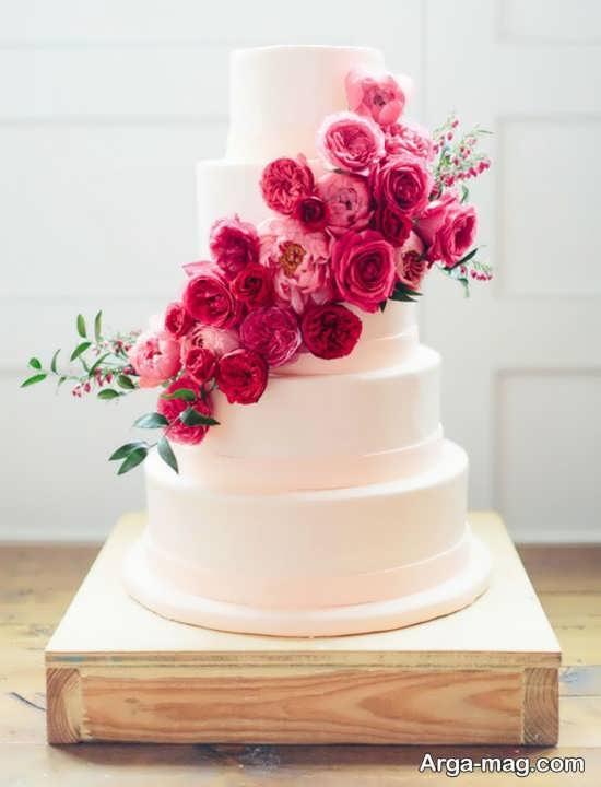 مدل کیک عروسی ساده و جذاب