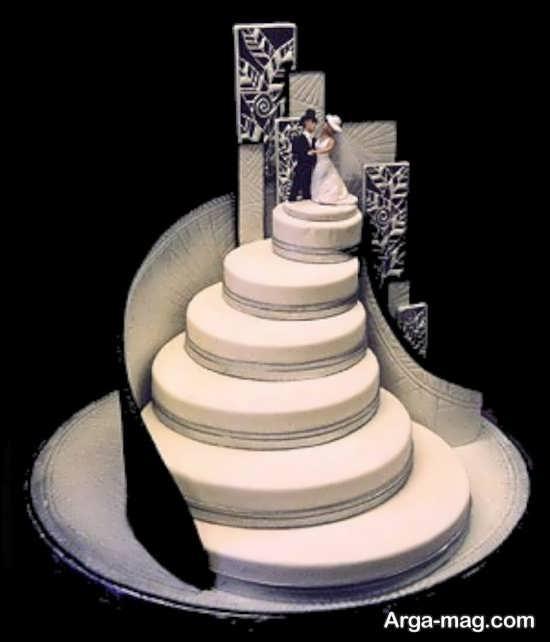 تزیین ساده کیک عروسی
