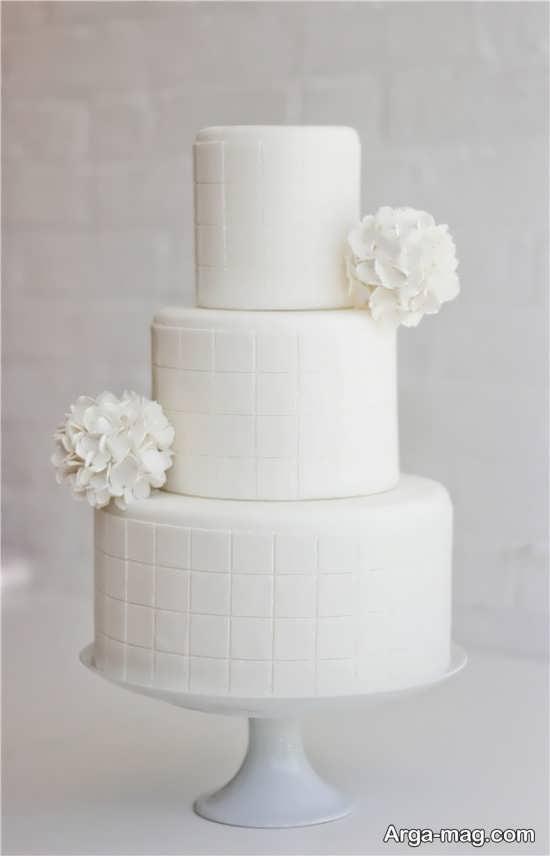کیک عروسی ساده