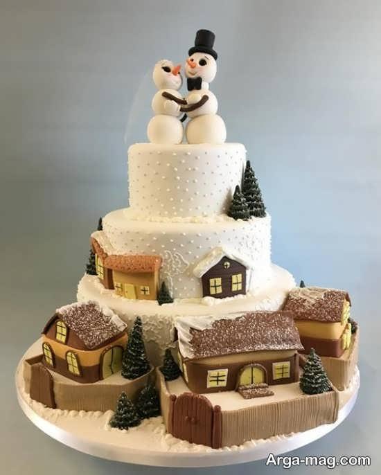 کیک عروسی خلاقانه
