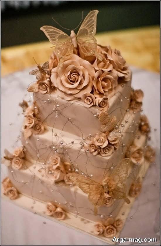 تزیین زیبا و شیک کیک عروسی