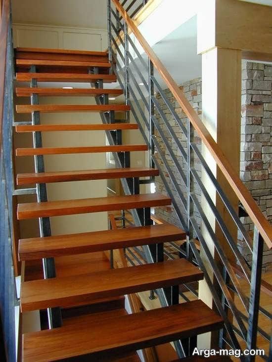 مدل راه پله چوبی زیبا