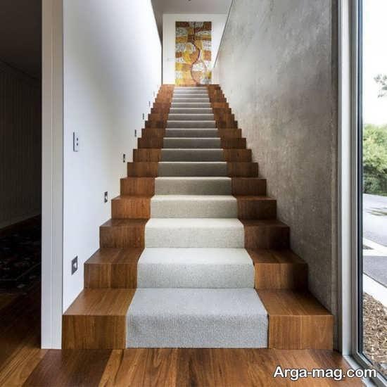 مدل راه پله چوبی متفاوت