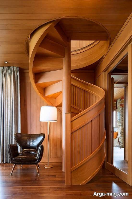 مدل راه پله شیک چوبی